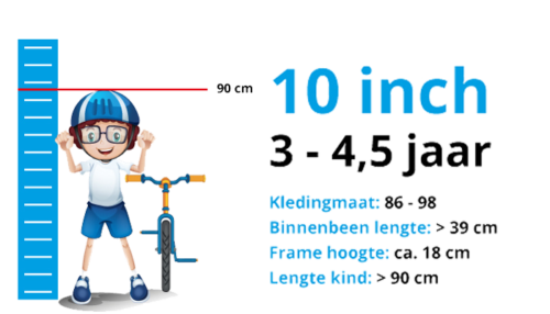 Jongensfiets 10 inch