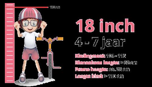 Meisjesfiets 18 inch